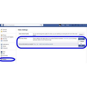 Cách tắt tính năng tự phát video của Facebook