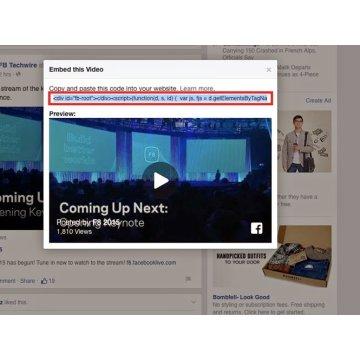 Cách nhúng video Facebook vào website và Blog