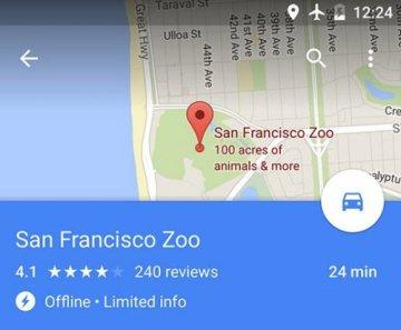 Dùng bản đồ của Google không cần phải có mạng Internet