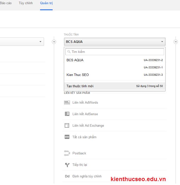 huong dan cach quan ly nhieu website bang mot tai khoan Google Analytics